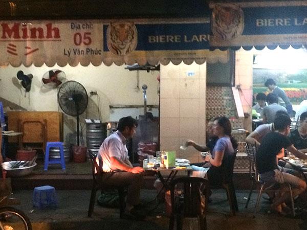 ベトナムの露店