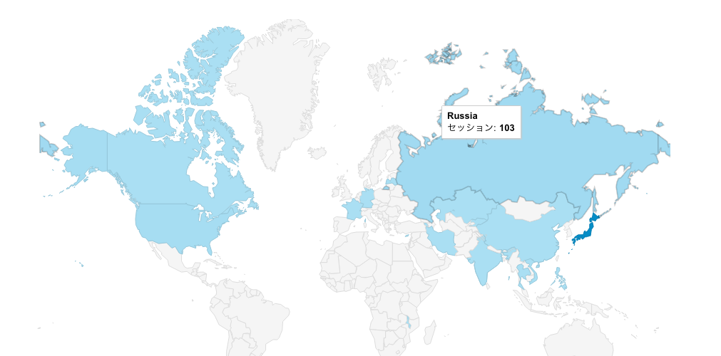 ロシアからの謎のアクセスが増えている