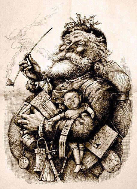 トーマス・ナストが描いたサンタクロース