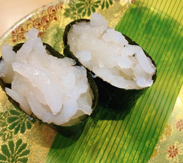 ことぶき寿司の白えび軍艦